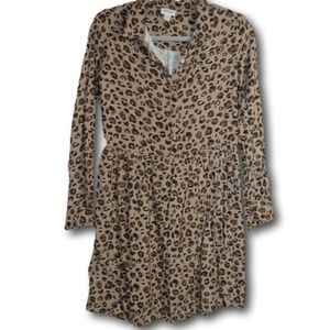 Cherokee Cheetah Print L/S Dress XL (14/16)